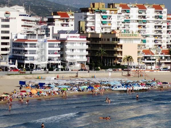 Peniscola Beach By Mediterranean Sea In Spain Poster