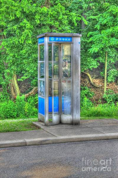 Phone Booth At Eden Park Poster