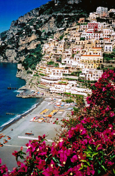 Poster featuring the photograph Positano Italy Beach by Donna Proctor