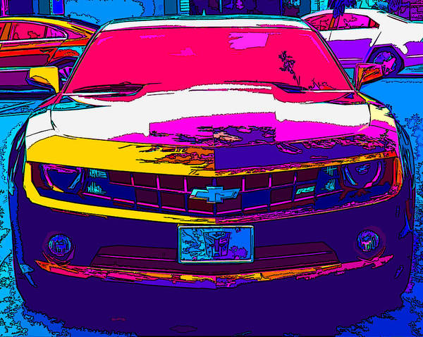 Psychedelic Camaro Poster