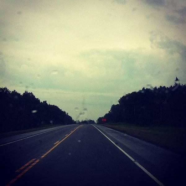 #rainy #drive Home #rain #highway Poster