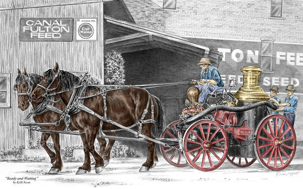 Ready And Waiting - Canal Fulton Ohio Fire Engine Print Poster