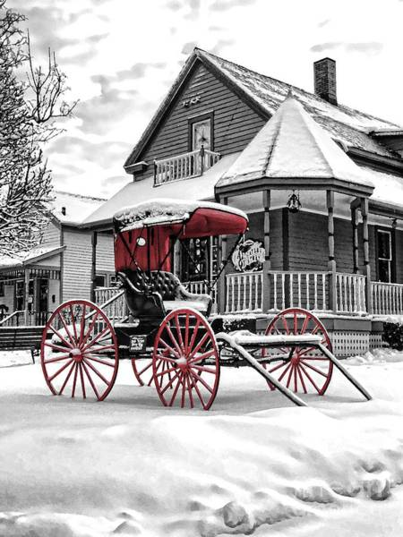 Red Buggy At Olmsted Falls - 2 Poster