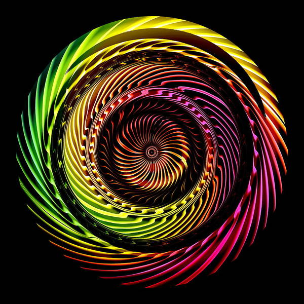 Poster featuring the digital art Ring Of Fire by Visual Artist Frank Bonilla