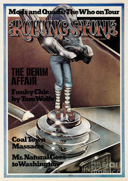 Rolling Stone Cover - Volume #151 - 1/3/1974 - Funky Chic Poster