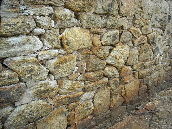 Rusty Stone Wall Poster