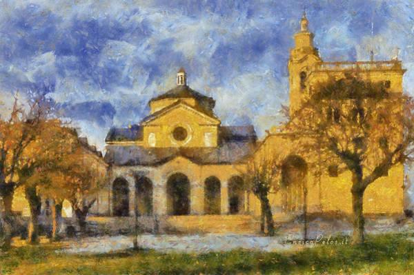 Santuario Della Madonna Della Guardia Poster
