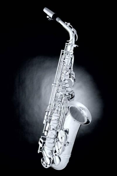 Saxophone On Spotlight Poster