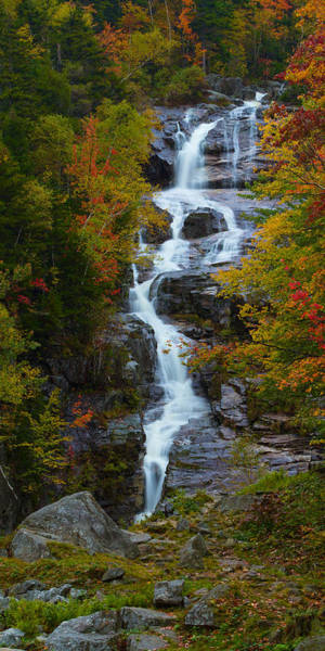 Silver Cascade Waterfall Poster