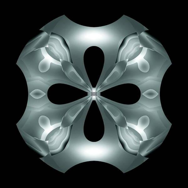 Poster featuring the digital art Silver Flower by Visual Artist Frank Bonilla