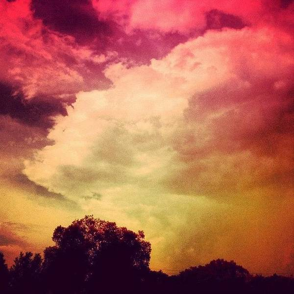 #sky #cary #colourful #clouds ☁ Poster