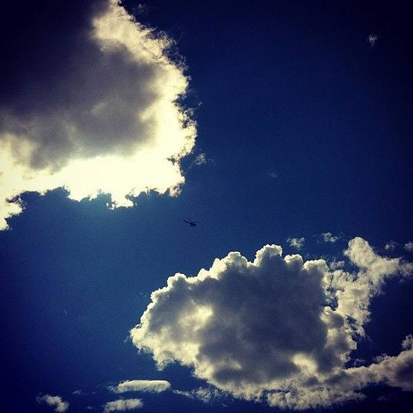 #sky #clouds #helicopter #blue #skyporn Poster