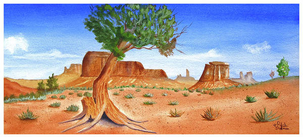 Poster featuring the painting Somewhere In The Southwest by Rich Stedman