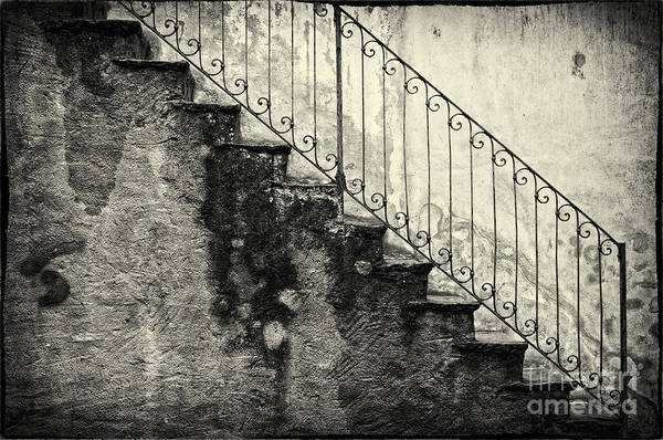 Stairs On A Rainy Day Poster