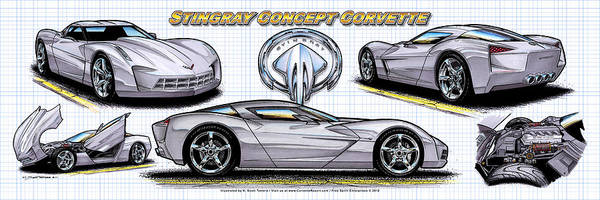 2010 Stingray Concept Corvette Poster