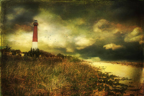 Storm At Barnegat Lighthouse Poster