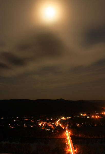 Sunderland By Moonlight From Mount Sugarloaf Poster