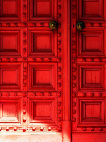 Sunlight On The Red Door Poster