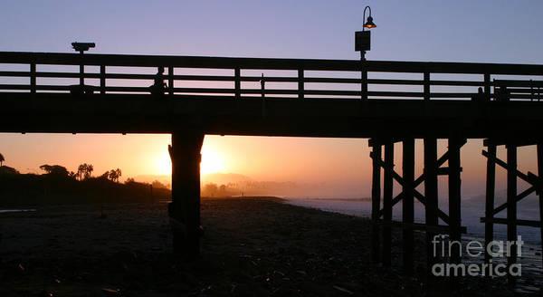 Sunrise Pier Ventura Poster
