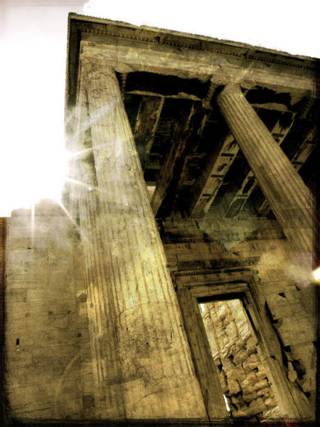 Sunset On The Parthenon Poster