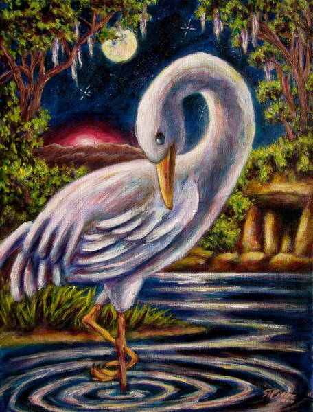 Swamp Crane Poster