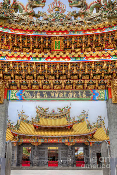 Poster featuring the photograph Taoist Temple 8 by Tad Kanazaki