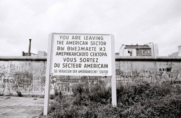 Berlin Wall American Sector Poster