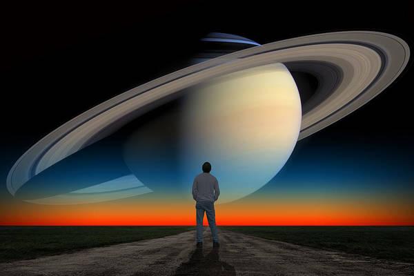 The Saturn Gaze Poster