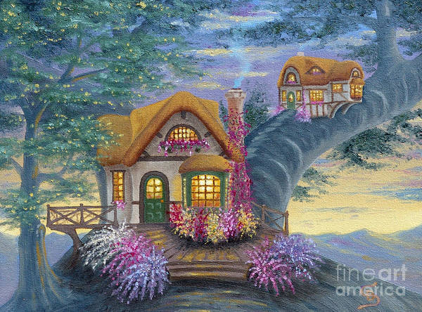 Tig's Cottage From Arboregal Poster