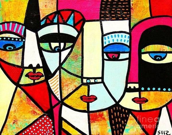 Tribal Batik Mask Spiritual Poster
