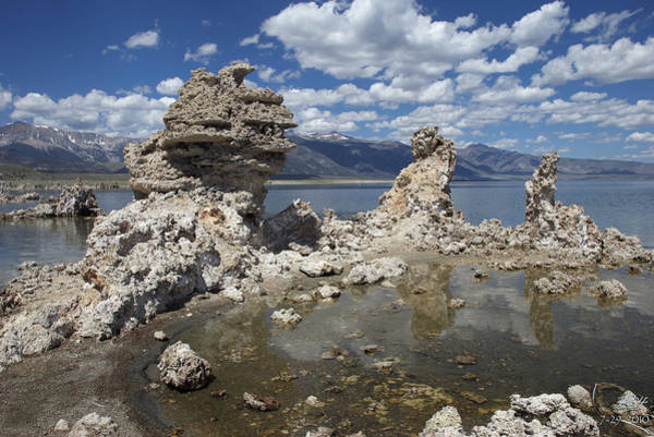 Tufa And Clouds Poster