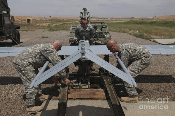 U.s. Army Soldiers Prepare To Launch An Poster
