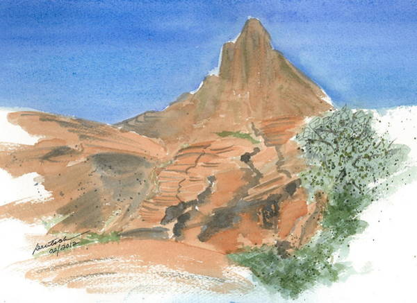 Valley Of Fire - Sketch II Poster