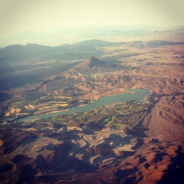 #view From The Airplane #lasvegas Poster