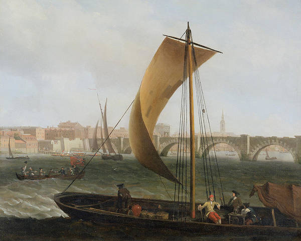 View On The Thames With Westminster Bridge Poster