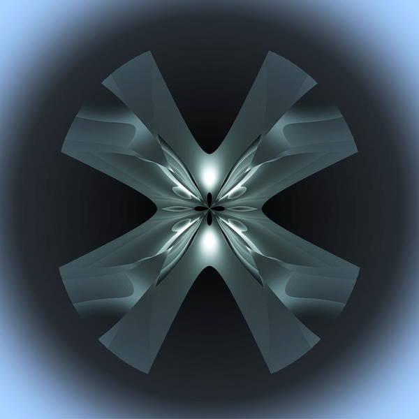 Poster featuring the digital art X Lights by Visual Artist Frank Bonilla