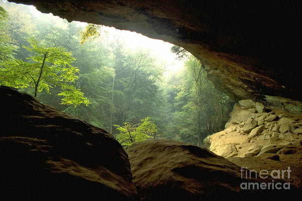 Cave Entrance In Ohio Poster