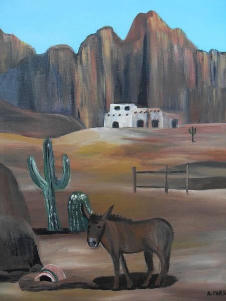 Donkey In The Desert Poster