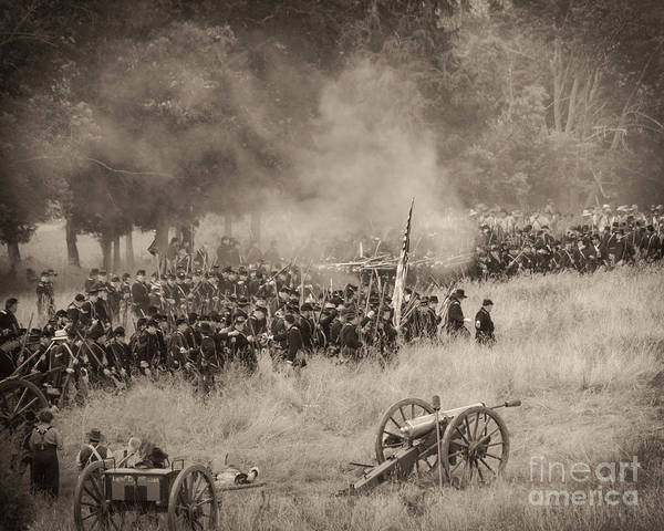Gettysburg Union Artillery And Infantry 8456s Poster