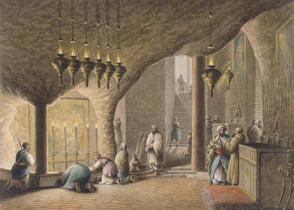 The Grotto Of The Nativity In Bethlehem Poster
