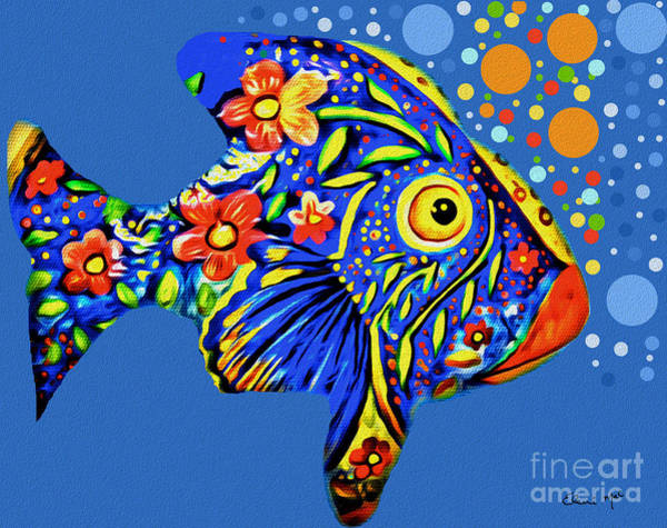 Poster featuring the digital art  Tropical Fish by Eleni Mac Synodinos