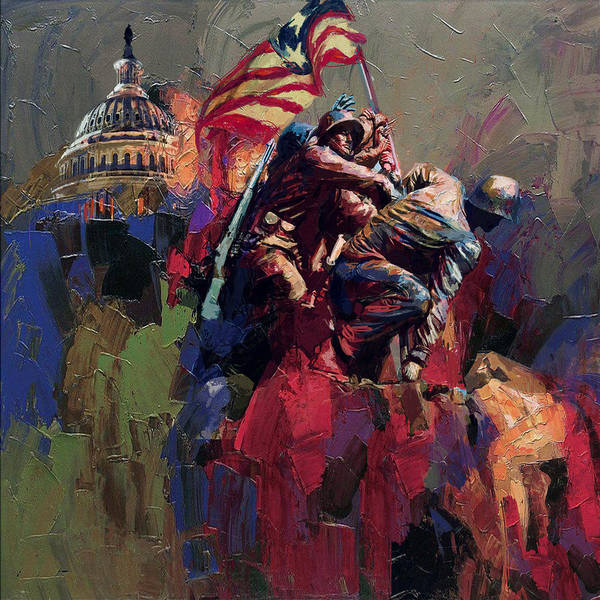 062 Jima Marine Memorial Washington Dc Poster