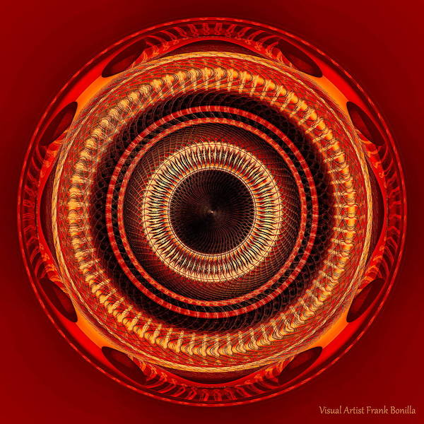 Poster featuring the digital art #091520152 Orange Version by Visual Artist Frank Bonilla