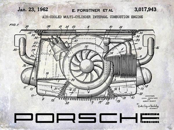 1962 Porsche Engine Patent Poster