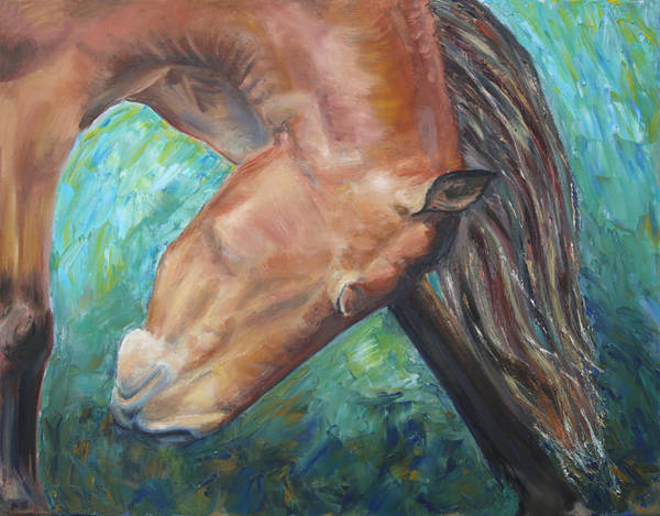 Abstract Horse One Poster