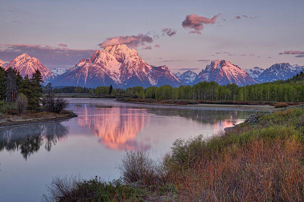 Alpenglow At Oxbow Bend Poster