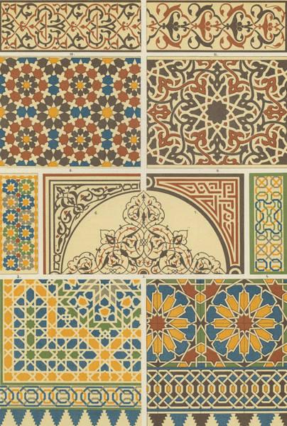 Arabian-moresque, Mosaic Textile Pattern Poster