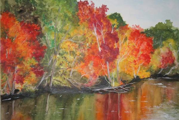 Poster featuring the painting Autumn Splendor by Jean Blackmer