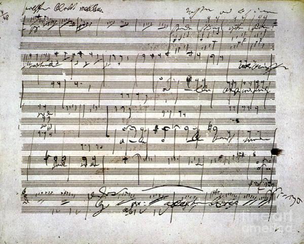 Beethoven Manuscript Poster
