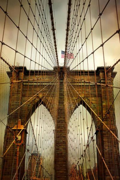 Brooklyn Bridge Twilight Poster